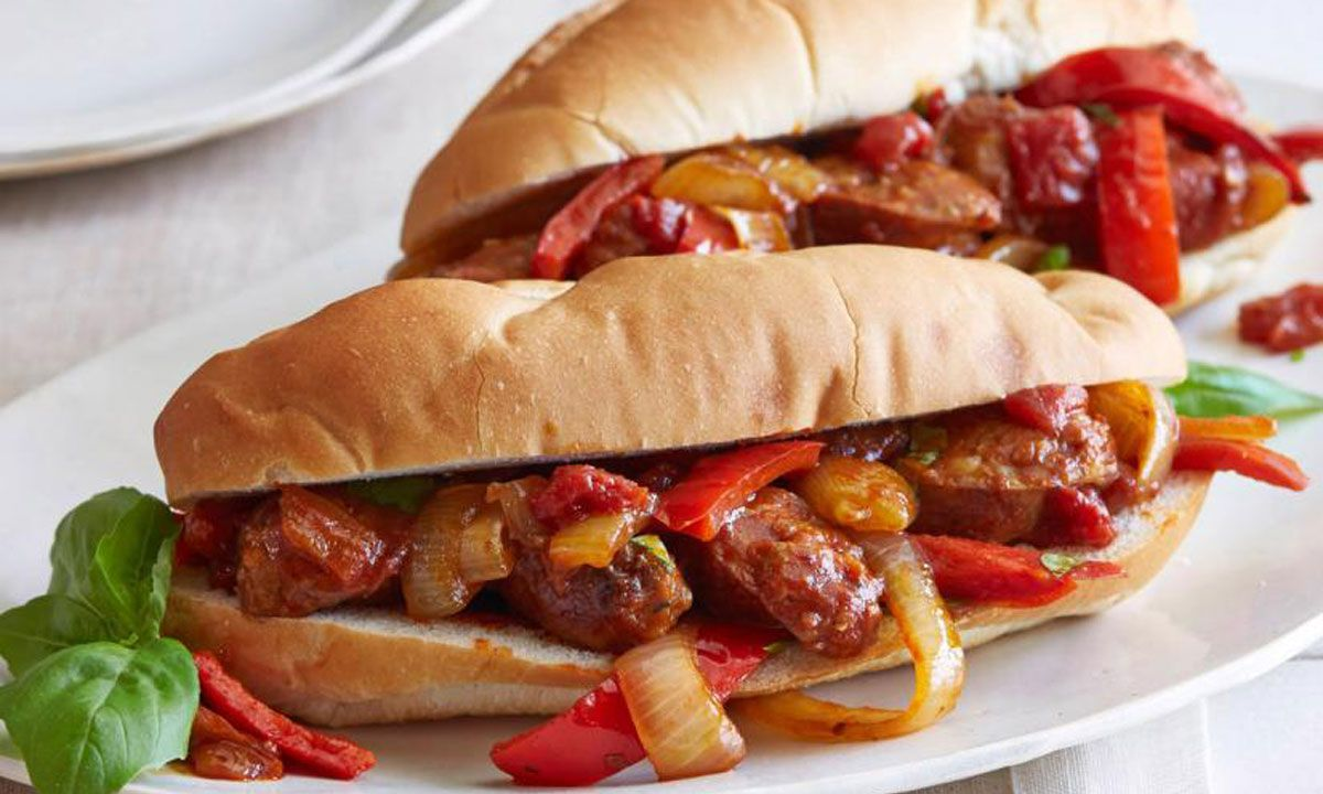 Crescent Sausage, Peppers and Onions